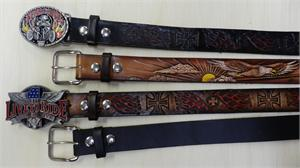 Old Biker Guy Leather Belts